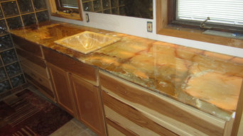 Onyx counter top for bathroom