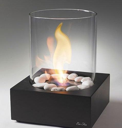 Eco Feu Love Box Matte Black Tabletop Biofuel Fireplace   Tabletop  Fireplaces