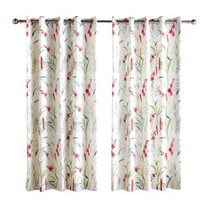 Celestine Lined Eyelet Curtains, Multicoloured, 170x185 cm