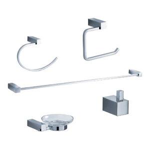Fresca Ottimo 5-Piece Bathroom Accessory Set, Chrome