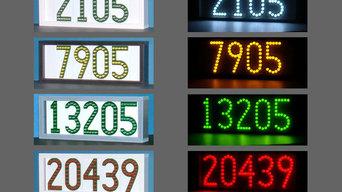 LEDress horizontal lighted house numbers