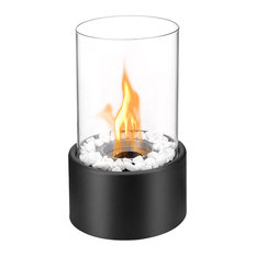 Regal Flame   Regal Flame Eden Ventless Tabletop Portable Bio Ethanol  Fireplace, Black   Tabletop