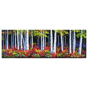 """Wonderful Wood"" Oil Painting, 50x150 cm"