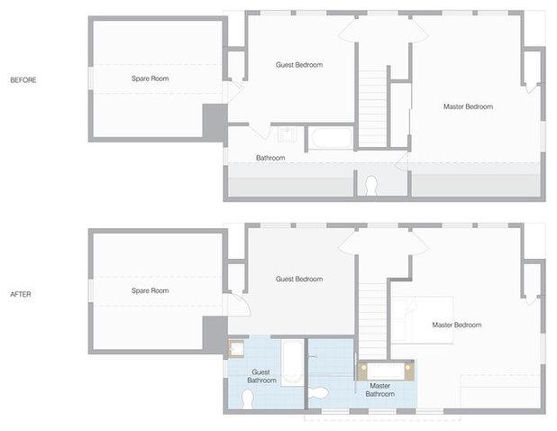 Floor Plan New Master Bathroom Is a Brilliant Open En Suite Compromise