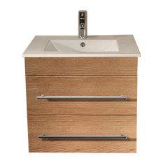 Emotion Milet Bathroom Furniture, 60.5 cm, Oak Semi-Gloss