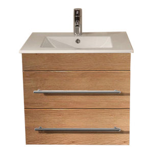 Emotion Milet Bathroom Furniture, 60.5 cm, Oak Semi-Gloss