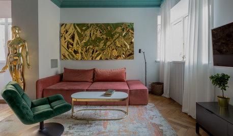 Просто фото: Цветной потолок