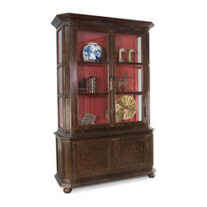 94-inch H Speranza Antwerp Cabinet Reclaimed Solid Pine Wood Veneer Glass Removable