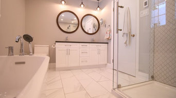 White and Dark Brown Bathroom
