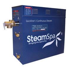 Steamspa Royal 10.5 Kw Quickstart Steam Bath Generator Package, Brushed Nickel