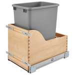 Rev-A-Shelf - 35 Quart Pull-Out Waste Container - The 4WCSC Waste Containers feature beautiful wood dovetail construction with full-extension soft-close slide system.  Patented adjustable door mount brackets will let you mount your cabinet door directly to your waste container for easy access.  The BLUMOTION slides system makes this one of the smoothest units to open and close. This unit features:
