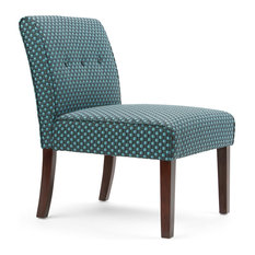 High Quality Simpli Home Ltd.   Sallybrook Accent Chair, Teal Patterned   Armchairs And  Accent Chairs