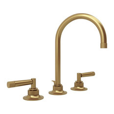 Rohl Michael Berman Graceline 1.2 GPM Deck Mounted Lavatory Faucet, French Brass
