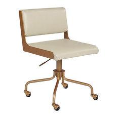 Davis Office Chair, Champagne Gold, Castillo Cream