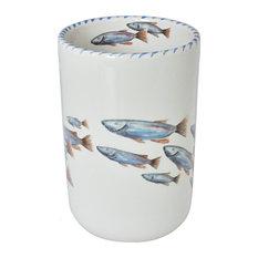 Lake Fish Wine Bottle Holder - Utensil Holder/Vase by Abbiamo Tutto