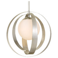 Crystorama Arlo 1-Light Antique Silver Large Chandelier - Large