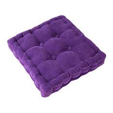 Square Thicken Cushion Tatami Floor Cushion, Car Pillow, Purple
