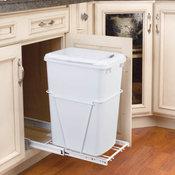 Rev-A-Shelf RV-12PB-LE RV Series Bottom Mount Single Bin Trash - White