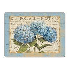 CounterArt Blue Hydrangeas Hardboard Placemat, Set of 2