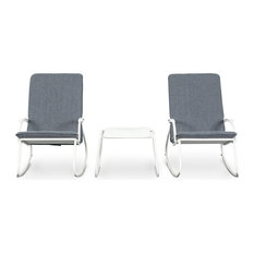 MOD - Cannes 3-Piece Outdoor Rocking Chair and Table Set - Outdoor Lounge Sets