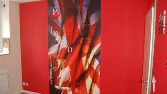 Poster mural personnalisé papier peint