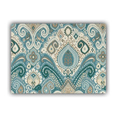 Boho Burst Taupe Indoor/Outdoor Placemats, Finished Edge, Set of 2