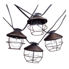 Chicago 10-Light Outdoor/Indoor String Light With Round Vintage Edison Bulbs, 10