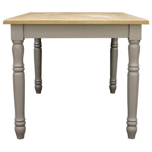 Chateau Storm Grey Country Dining Table, 140x90 cm