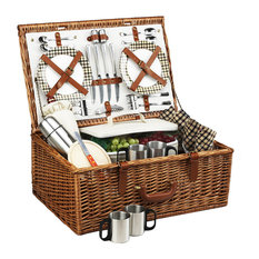 Dorset Basket For Four With Coffee Service, Wicker W and London
