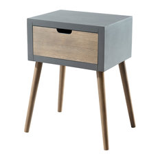 Lorenzo Bedside Table, 1 Drawer