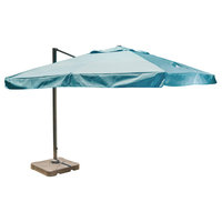 Meridith Outdoor 9.8' Water Resistant Canopy With Black Resin Base, Teal