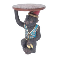 Monkey Butler Side Table 2'  Life Like  Statue