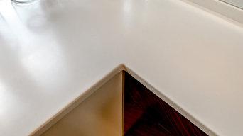 Столешница из искусственного камня  Akrilika (Акрилика) A101 Glacier White