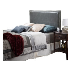 gdfstudio westin adjustable leather headboard gray fullqueen headboards