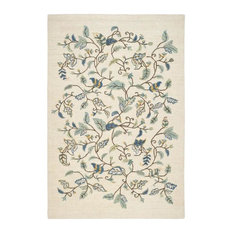 Safavieh Martha Stewart MSR3611C-Autumn Woods Colonial Blue Rug, 5'x8'Rectangle