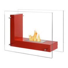 Ignis Vitrum L Red, Free Standing Ethanol Fireplace, FSF-005R