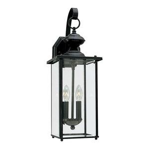 Sea Gull Lighting 2-Light Outdoor Lantern, Black