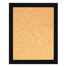 "Framed Cork Board 24""x36"", With Flat Black Finish Frame"