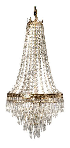 French Empire Crystal Chandelier 4 Light