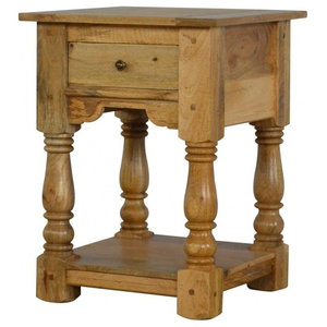 1 Drawer Country Style Bedside Table with Shelf