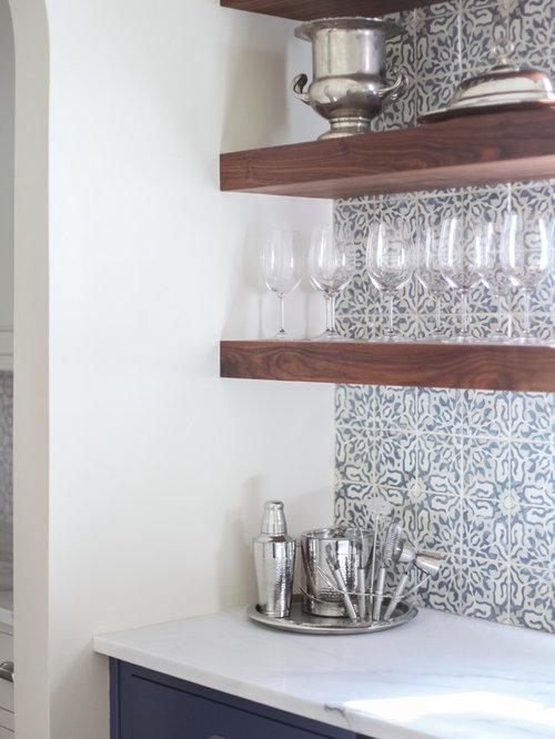 Transitional Charlotte Home Bar Design Ideas Remodels Photos