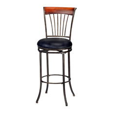 Hillsdale Hillsdale Riley Inch Swivel Bar Stool in Black and Cherry Bar Stools