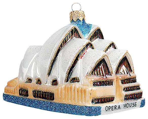 Sydney Opera House Australia Polish Mouth Blown Glass Christmas Ornament christmas-ornaments