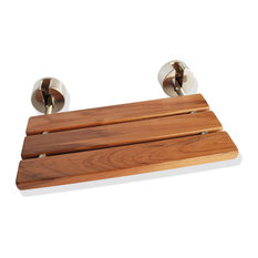 Wall-Mounted Teak Folding Shower Seat
