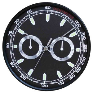 EMDE Chrono Wall Clock, Black