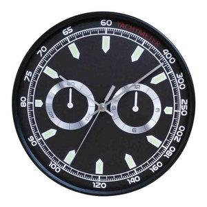 EMDE Chrono Wall Clock, Black