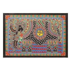 Novica the Royal Elephant Madhubani Painting