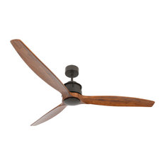 "Beacon Lighting - Lucci Air Airfusion Akmani 60"" DC Ceiling Fan, Oil Rubbed Bronze and Koa - Ceiling Fans"