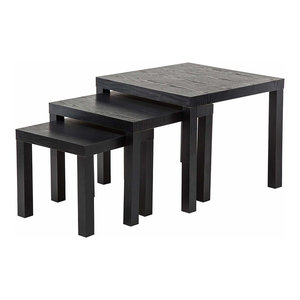 Modern Nesting Coffee Tables in MDF, Square Design, Set of 3