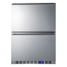 "Summit 24"" Drawer Freezer with 3.54 cu. ft. Capacity in Stainless Steel"